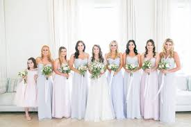 how to mix and match bridesmaids dresses the right way