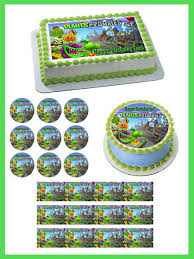 Plants Vs Zombies Cake Decorations Plants Vs Zombies 1 Edible Birthday Cake Or Cupcake Topper