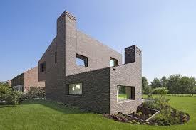modern brick house brick house groenekan zecc architecten