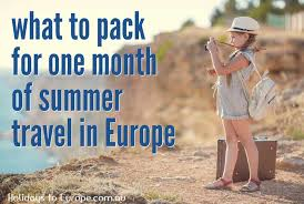planning and packing tips for a european holidays to europe