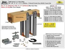 johnson hardware 2060 pocket door frame johnsonhardware com