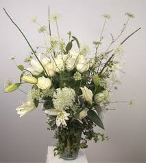 white floral arrangements sympathy flower arrangements by yukiko