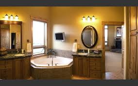 classic bathroom vanity with stylish pendant lights offer a