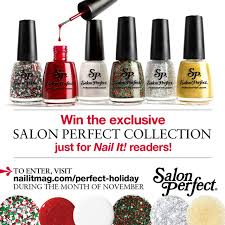 salon perfect nail it holiday exclusive swatch and review