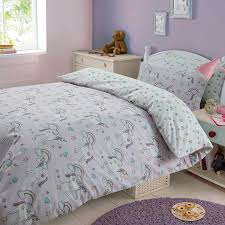 Childrens Duvet Cover Sets Magic Unicorns Double Duvet Cover Set Kids Childrens Bedding 2
