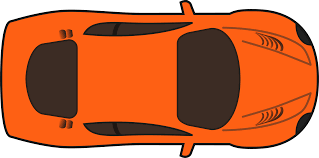 orange racing car top view clipart cliparts and others art