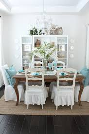 Aqua Dining Room by An Early Spring Coastal Style Dining Table Starfish Cottage