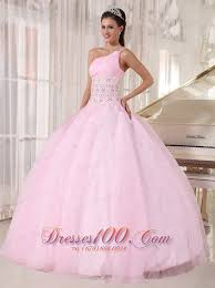 dresses for sweet 15 one shoulder pink sweet 15 dress beading gown discount