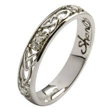 celtic wedding ring diamond cluster celtic wedding band