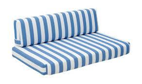 Outdoor Sofa Cushion Bilander Outdoor Sofa Set In Natural Blue U0026 White By Zuo Get