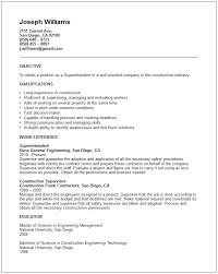 Resume Examples Construction by Superintendent Resume Example Free Templates Collection