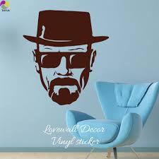 modern breaking bad heisenberg glass wall sticker sofa bedroom