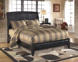 Black Leather Sleigh Bed Harmony Faux Leather Panel Bed