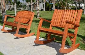 Wooden Rocking Chair Outdoor Redwood Outdoor Rocker Hand Crafted Wooden Rocker