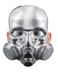 halloween gas mask costume bio hazard mask chrome gas mask in masks nightmarefactory com
