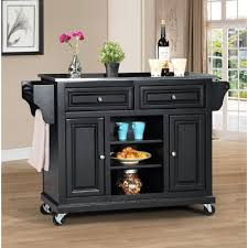 black kitchen island with stainless steel top wildon home kitchen island with stainless steel top reviews