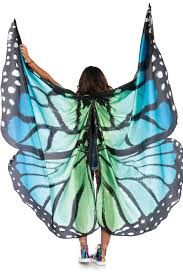 blue black festival monarch butterfly cape with wrist straps