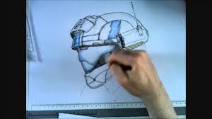drawing a detailed custom odst helmet speedpaint youtube
