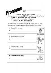english worksheets subject pronouns worksheets page 45