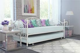 dhp furniture bombay metal twin size daybed and twin size trundle