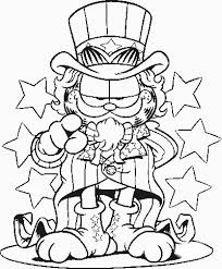 free printable garfield coloring pages kids