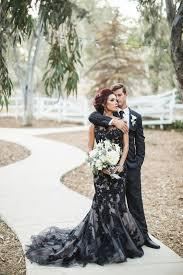 fall wedding dress ideas picture of wedding dress with black lace and tulle on it