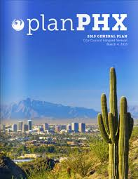 Phoenix Zoning Map by Planning And Development Phoenix General Plan 2015