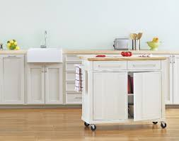 a mobile kitchen island adds instant counter space real simple