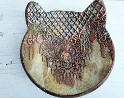antique cat ring holder images Black cat ring dish jewelry dish cat ring holder ceramic etsy jpg