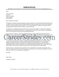 Jobs With No Resume by Awesome Sample Cover Letter For Teaching Position With No