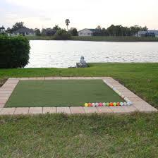 golf driving range mat 5 5 the real feel golf mat backyard ideas
