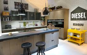 Modern Brick Wall by Kitchen Style White Brick Wall Modern Industrial Kitchen Design