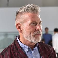 undercut slick back receding hairline silver and grey hair for men men s hairstyles haircuts 2018