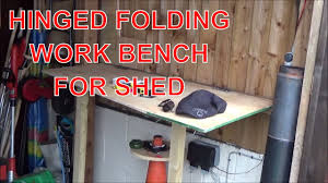 Bench For Working Out Folding Work Bench For Shed Made Out Of Junk Wood And Hinges