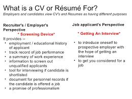 effective cv resume writing