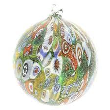 tree ornaments murano glass ornament green