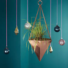 Geometric Hanging Planter by Copper Geometric Hanging Planter By London Garden Trading