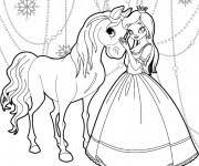 Coloriage Reine des Neiges en couleur dessin gratuit à imprimer