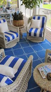 Nautical Outdoor Rugs by Nautical By Nature Coastal Living Showhouse Second Floor Balcony