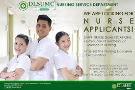 Floor Nurse by Be A Dlsumc Staff Nurse De La Salle University Medical Center