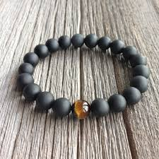 onyx beads bracelet images Men 39 s beaded bracelet 10mm or 8mm matte onyx and tiger jpg
