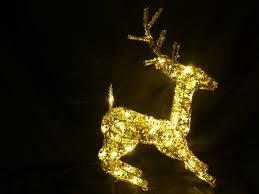 Outdoor Reindeer Christmas Decorations Ireland by Christmas Decorations Light Up 50cm Gold Reindeer Led Lights