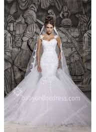 wedding dress sheer straps 2018 wedding dresses mermaid applique lace spaghetti straps sheer