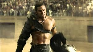 spartacus gods of the arena gannicus vs 2 gladiators youtube