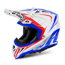 shoei helmets motocross airoh for sale airoh aviator 2 2 edge offroad white red blue