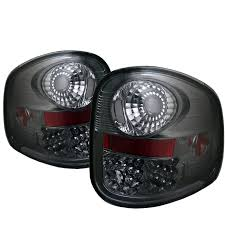 ford lightning tail lights 97 03 f150 flareside smoked rear led tail brake lights 111 ff15097fs