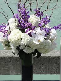 purple and white flower arrangements sheilahight decorations
