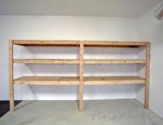 Basement Wooden Shelves Plans by Garage Shelves Organization Diysisters Com Diy Sisters Projects