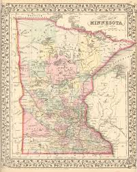 Minnesota Topographic Map Antique Maps Of Minnesota