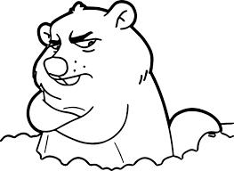 cartoon groundhog coloring wecoloringpage